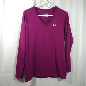 under armour M semi fitted purple long sleeve